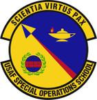 STICKER USAF Special Operations School Emblem