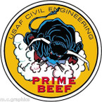 STICKER USAF CIVIL ENGINEERING
