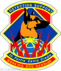 STICKER USAF Air Force Security Fortis Canis