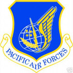 STICKER USAF AIR FORCE PACIFIC AIRFORCES