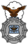 STICKER USAF Air Force Air Police Westover