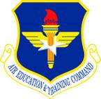 STICKER USAF AIR EDUCATION N TRAINING COMMAND
