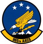 STICKER USAF 965th Airborne Air Control Squadron Emblem