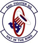 STICKER USAF 94th Fighter Squadron