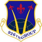 STICKER USAF 926th Group (AFRC) Emblem