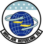 STICKER USAF 905th Air Refueling Squadron Emblem