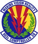 STICKER USAF 902nd Comptroller Squadron Emblem
