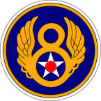 STICKER USAF 8TH AIR FORCE B
