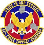 STICKER USAF 87th Force Support Squadron Emblem