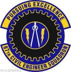 STICKER USAF 87th Civil Engineer Squadron Emblem