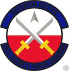 STICKER USAF 821ST SECURITY FORCES SQUADRON