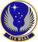 STICKER USAF 818th Mobility Support Advisory Squadron Emblem