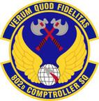 STICKER USAF 802nd Comptroller Squadron Emblem