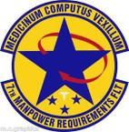 STICKER USAF 7th Manpower Requirements Flight