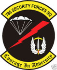 STICKER USAF 786th SECURITY FORCES SQUADRON