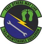 STICKER USAF 763rd Maintenance Squadron Emblem