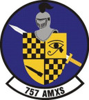 STICKER USAF 757th Aircraft Maintenance Squadron Emblem