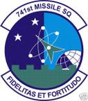 STICKER USAF 741ST MISSILE SQUADRON