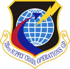STICKER USAF 735th Supply Chain Operations Group Emblem