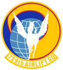 STICKER USAF 729TH AIRLIFT SQUADRON