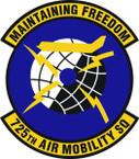 STICKER USAF 725th Air Mobility Squadron Emblem
