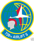 STICKER USAF 728TH AIRLIFT SQUADRON