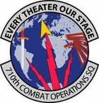 STICKER USAF 710 Combat Operations Squadron