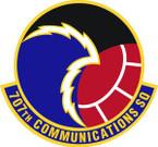 STICKER USAF 707th Communications Squadron Emblem