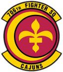 STICKER USAF 706th FIGHTER SQUADRON