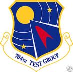 STICKER USAF 704TH TEST GROUP