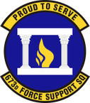 STICKER USAF 673rd Force Support Squadron Emblem