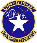 STICKER USAF 673rd Security Forces Squadron Emblem