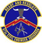 STICKER USAF 673rd Civil Engineer Squadron Emblem