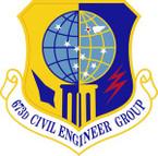 STICKER USAF 673rd Civil Engineer Group Emblem