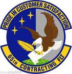 STICKER USAF 65th Contracting Flight Emblem