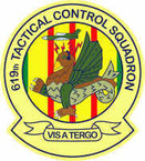 STICKER USAF 619th Tactical Control Squadron