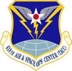STICKER USAF 618th Air and Space Operations Center Emblem