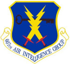 STICKER USAF 607th Air Intelligence Group Emblem
