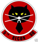 STICKER USAF 5TH RECONNAISSANCE SQUADRON
