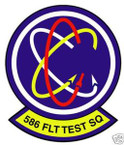 STICKER USAF 586TH FLIGHT TEST SQUADRON