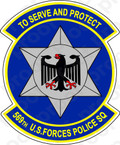 STICKER USAF 569TH U.S. FORCES POLICE SQUADRON