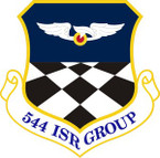 STICKER USAF 544th Intelligence Surveillance and Reconnaissance Group Emblem