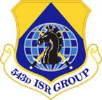 STICKER USAF 543rd Intelligence Surveillance and Reconnaissance Group Emblem