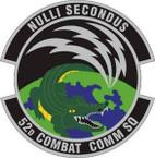 STICKER USAF 52nd Combat Communications Squadron Emblem