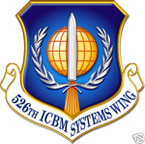STICKER USAF 526TH ICBM SYSTEMS WING