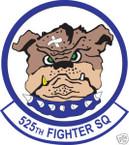 STICKER USAF 525TH FIGHTER SQUADRON