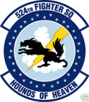 STICKER USAF 524TH FIGHTER SQUADRON