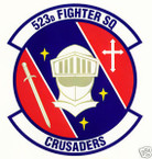 STICKER USAF 523RD FIGHTER SQUADRON
