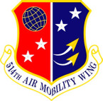 STICKER USAF 514TH AIR MOBILITY WING A