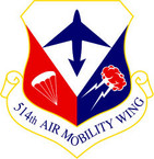 STICKER USAF 514TH AIR MOBILITY WING